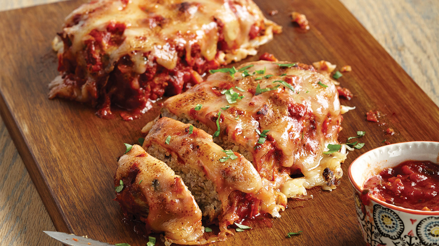 big batch chicken parmesan meatloaf
