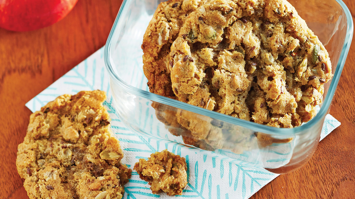 crunchy granola and seed cookies
