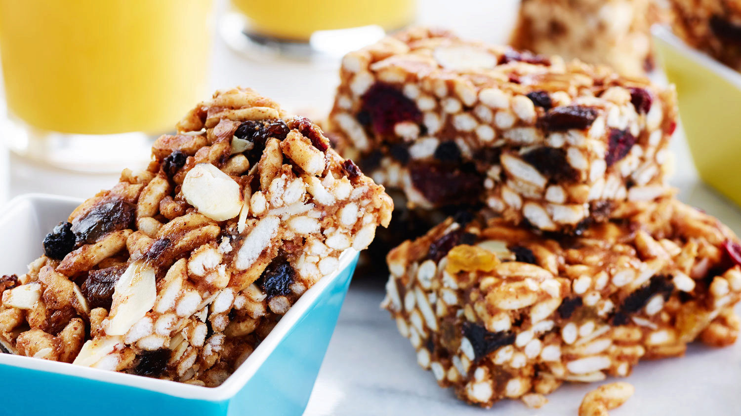 gluten free no cook breakfast bars