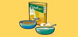 bowls of cereal and oatmeal