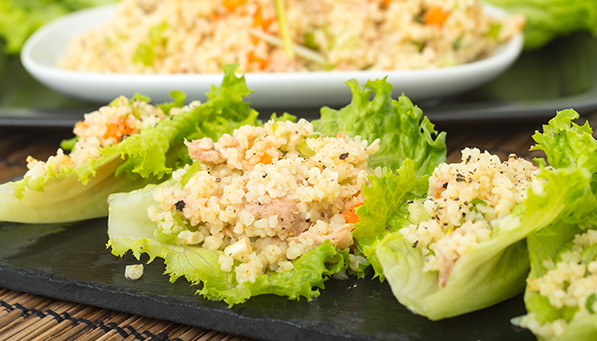 Chicken and Apple Lettuce Wraps