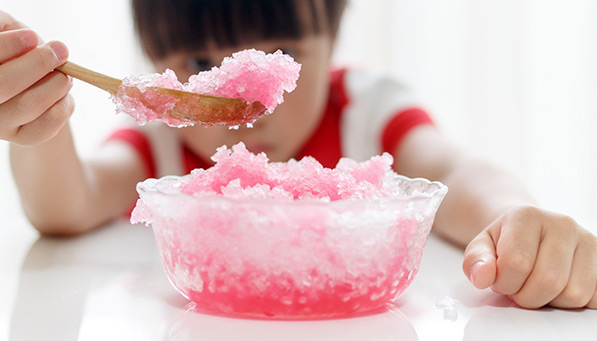 Raspberry Snow Cones