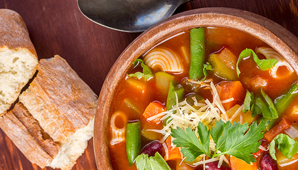 Minestrone with Turkey Sausage