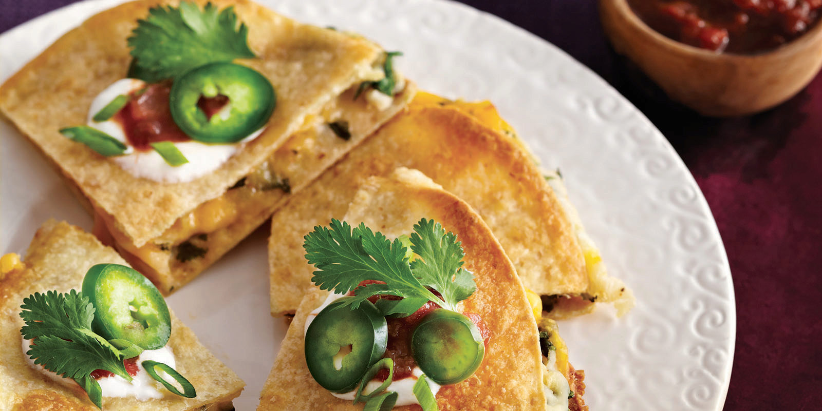 potato cheese quesadilla